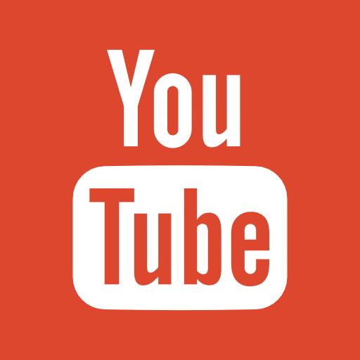 Logomarca do youtube na lateral direita site linka diretamente ao nosso canal no youtube.